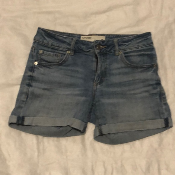 Garage Cuffed Denim Shorts